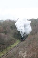 4277 climbs through Bradnop (g4vvz) Tags: gwr 4200 280t 4277 hercules steam engine churnet valley railway dartmouth uk br black bradnop froghall