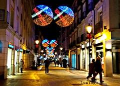 Calle de la  Moneda (Burgos) (Lumiago) Tags: nocturna navidad2017 navidad calles