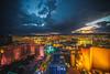 Las Vegas Sunsets (Thomas Hawk) Tags: america clarkcounty ferriswheel harrahs highroller lasvegas lasvegasstrip link linq mirage nevada sincity thellinq usa unitedstates unitedstatesofamerica vegas fav10 fav25