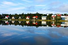 Reykjavik Reflection (JeffGuth) Tags: reykjavik iceland house colors water scandinavia reykjavikiceland north northern landscape