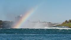 Hoist the Colors (Rev.Gregory) Tags: rainbow colors spectrum rising niagara falls horseshoe bridge river