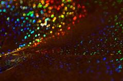 Glitter Cover / Glitzer-Heftumschlag (Marian Si) Tags: glitter cover glitzer heftumschlag rainbow spectrum abstract sonynex5t minoltamd manualfocus