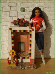 20.advent day - advent calendar with dolls 2017 (Mary (Mária)) Tags: christmas christmasornaments advent calendar 2017 december barbie holiday fireplace look fashion fashionistas dollcollector doll dollphotography toys christmassweater diorama miniatures handmade reindeer marykorcek