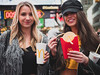 Product placement (Vincent F Tsai) Tags: portrait fashion fast food mcdonalds fries portraits models girls happy smile fun newyorkcity nyc timessquare leicadgsummilux25mmf14 panasonic lumixgx8