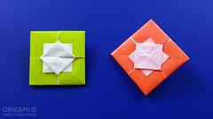 Origami Square Envelope (origami.plus) Tags: origami envelope box origamienvelope origamibox