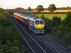 218 on 18:50 Heuston-Galway at Kearneystown BRidge 17-Sept-06 (metrovick) Tags: irishrail iarnrodeireann ie201class emd emdexportloco jt42hcw mk3 brelmk3 kearneystownbridge railroad railway railwaykildare