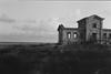 House by the sea (davidgarciadorado) Tags: sea architecture ruins evening grass llobregat rangefinder olympus film ilford balckandwhite ithinkthisisart