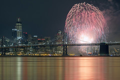 Exposed and Imposed (luminous__photography) Tags: fireworks nye2017 sanfrancisco cityscape longexposure cityofsanfrancisco sanfranciscobaybridge california nightphotography nightscape nightlife pacificocean ocean landscape stars