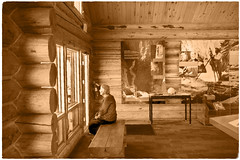 Black Canyon Visitor Center (Chuckcars) Tags: black canyon gunnison national park usa visitor center fujifilm sepia logconstruction xpro2