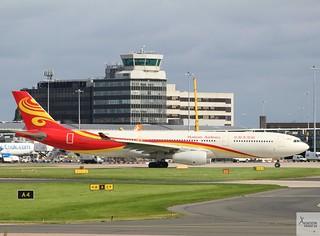 Hainan Airlines A330-343 B-8016 taxiing at MAN//EGCC