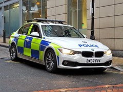 West Midlands Police BMW 330d Traffic Car BX67 FVV (OPS190), Birmingham City Centre. (Vinnyman1) Tags: west midlands police bmw 330d traffic car bx67 fvv ops190 operations wmp rpu roads policing unit road crime anpr automatic number plate recognition cctv closed circuit television enabled 20 emergency services service rescue 999 birmingham england uk united kingdom gb great britain
