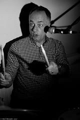 The beat goes on. (Neil. Moralee) Tags: bar nineneilmoralee neilmoralee man drummer portrait face play drum drums barnone bw bandw blackandwhite music musician sound beat rock roll pop blues matal heavy stare eye eyes shadow stick sticks microphone neil moralee nikon d7200 taunton somerset uk gig concert group band loud stomp live mature old