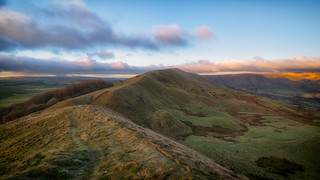 The lighting of Mam Tor... (in Explore)