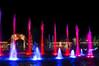 Fountain and Christmas Lights (aaronrhawkins) Tags: christmas lights color water fountain season university mall orem utah trees tunnel display night dark beam sky aaronhawkins