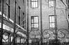 St. Louis City // Pentax K1000 // Photo by June Ann D'Angelo (juneanndangelo) Tags: stl stlouis city cityscape locked behindbars blackandwhite bnw film filmphotography pentax pentaxk1000 juneann juneanndangelo
