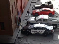 Last min move . 12/22/2017 (THE RANGE PRODUCTIONS) Tags: greenlight johnnylightning jeepcherokee nissan chevroletsilverado fordpoliceinterceptor hoscalefigures hoscale 164scale dioramas diecast diecastdioramas modular toy model