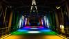 Pont Palais des sports 16 Décembre 2017. (Enzo R.) Tags: bridge pont colors colorful coloré centered centré architecture toulon var provence nikon d600 rainbow lights lumières vanishing point
