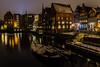 Lüneburg Boote im Alten Hafen (jörg opfermann) Tags: sony ilce 7m2 fe 24240mm nachtaufnahme langzeitbelichtung long exposure lüneburg niedersachsen historic historisch hafen harbor alter old stimmung boote boats