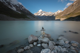 Rock Stack - Aoraki/Mount Cook National Park, New Zealand