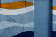 Cityscape/Blues (TheVermin) Tags: sony rx100 bangalore urban minimal colors door blue waves