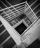 Descendre dans les profondeurs. (nathalie beauchamp) Tags: parking escaliers starway noiretblanc blackandwhite noir blanc marches lignes géométrique architecture monochrome