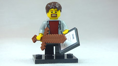 Brick Yourself Custom Lego Figure Guy with Dune Tablet & Minecraft Sword