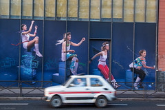 Jump ! (sdupimages) Tags: motion vitesse speed flou graffiti street rue paris blur voiture car tag