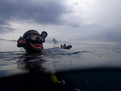 Surface (YellowSingle 单黄) Tags: surface scuba dive diving exploration marine cave cavern boat rescue underwater plongée socoa aroca tikia grotte olympus tg4