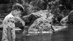 Cal. (Eddy Summers) Tags: glenbrookgorge glenbrook bluemountains nsw australia monochrome water paddling rock pool rockpool topaz pentaxk1 portrait portraitphotography