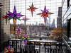 looking out at Columbus Circle from Time Warner Center at Christmastime (Web-Betty) Tags: nyc newyorkcity newyork bigapple city urban unitedstates timewarnercenter holiday decorations window columbuscircle