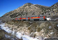 Fresh Out of the Box (jamesbelmont) Tags: pricecanyon priceriver utahrailway emd sd40 coal canyon river utah lynn railway