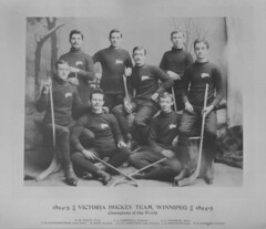 Winnipeg Victora Hockey Team, 1895 [LAC] (vintage.winnipeg) Tags: winnipeg manitoba canada vintage history historic sports people