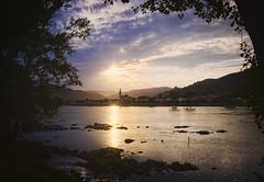 wachau gold (koaxial) Tags: p7141476ap7141480p4ma koaxial donau danube wachau stein krems view framed water reflection sunset light licht landscape