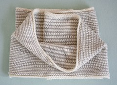 Beige Print Cowl (capovak) Tags: merino wool drops cowl accessory knitting