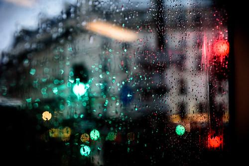 Rainy Parisian Bus Trip