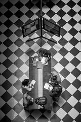 Chile   Santiago   Street (Medigore) Tags: sombras shadows white byn blanco black chile canont3i calle canon 1750 medigore sigma monocromático gente work street people life ngc geometría simetría líneas