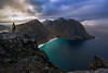 Ryten View (martin.matte) Tags: europe nature hiking travel beach ocean mointains water landscape sky clouds person view ramberg lofoten