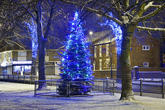 The Christmas Tree & Fountain, Bloxwich 08/12/2017 (Gary S. Crutchley) Tags: christmas xmas tree bloxwich fountain snow winter uk great britain england united kingdom urban town townscape walsall walsallflickr walsallweb black country blackcountry staffordshire staffs west midlands westmidlands nikon d800 history heritage local night shot nightshot nightphoto nightphotograph image nightimage nightscape time after dark long exposure evening travel street slow shutter raw nikkor afs 28300mm f3556g ed vr