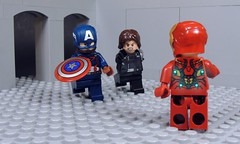 Team Up Against Tony (-Metarix-) Tags: lego super hero minifig marvel cinematic universe captain america civil war siberia winter soldier iron man tony stark steve rodgers bucky barnes movie final battle