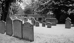 Snowy graveyard (Dave Russell (900k views)) Tags: church yard churchyard grave graves graveyard burial stone stones headstone st saint guthlac market deeping lindolnshire england uk outdoor winter 2017 snow snowing holy place peace religion
