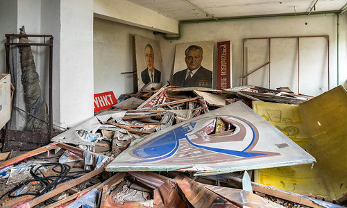 Remains of Soviet propaganda