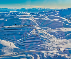 The SnowFarm (Stuck in Customs) Tags: newzealand queenstown snowpark stuckincustomscom treyratcliff otago nz new zealand treyratcliffcom ratcliff trey south island dailyphoto horizontal colour color day inverted mountain hdr hdrphoto rr grass water sky snow blue white green black rock sony sonya7rii reflection skifield outside outdoor outdoors hill landscape mountainside view range southernalps piste sport daily skiing lodge chalet glowing pink grey yellow purple snowfarm secret