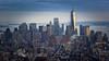 Downtown Manhattan - New York (sigi-sunshine) Tags: hudsonriver architektur hochhaus hochhäuser citylights newyork manhattan nyc bigapple skyline wolkenkratzer skyscraper downtown oneworldtradecenter america amerika usa