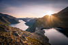 Besseggen (__..Daniel..__) Tags: jotunheimen besseggen norway norwegen noreg norge mountain hill lake mountainlake see bergsee peergynt norden skandinavien sigma nikon d5300 weitwinkel sonnenstern sunset sonnenuntergang gebirge scenic stunning view hiking wandern landschaft landscape landschaftsfotografie