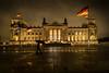 stormy / Reichstag Berlin (jan.scho) Tags: berlin reichstag regen regenschirm mann nacht flagge deutschland sturm dunkel nass spiegelungen wolkenspiel
