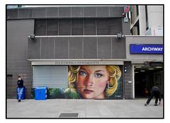 LONDON STREET ART BY IRONY. (Mark Charnock Street Art Photo) Tags: irony streetart londonstreetart urbanart graffiti