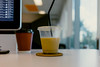 284/ 365 Afternoon Iced Latte (bady_qb) Tags: 365 500px latte coffee desk mac setup zeiss sony a7ii