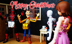 Naughty Card Christmas 2017 (RandomWatts) Tags: revoltech deadpool action figure photography actionfigurephotography toy toyphotography christmas xmas card funny naughty