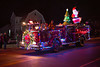 That's the Spirit (Chancy Rendezvous) Tags: holiday christmas santa decorations decorated light lit fire firetruck fireengine ladder truck brigade departrment street night wareham massachusetts newengland spirit