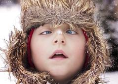 Cross Eyed (Jenny Onsager) Tags: crosseyed eyes blueeyes furhat kids kidsportrait winter snow coat cold winterportrait